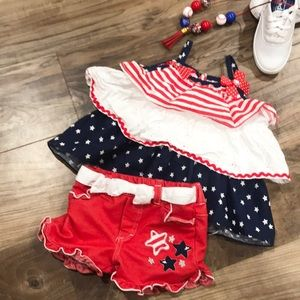 Red White and Blue toddler 2 pc outfit!